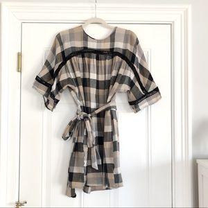 Anthropologie Mauve Gauze Dress XS